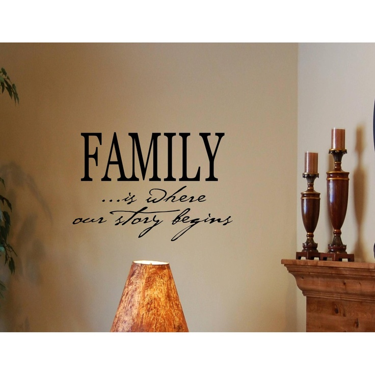 Motivational Inspirational Quotes: FAMILY IS WHERE OUR STORY BEGINS Vinyl Wall Decals Quotes