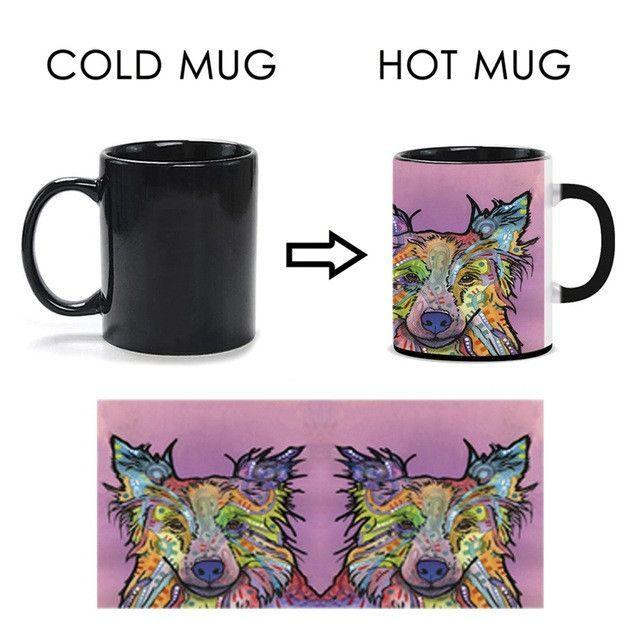 Color Changed Magic Mug Animals Tea Ceramics Cups