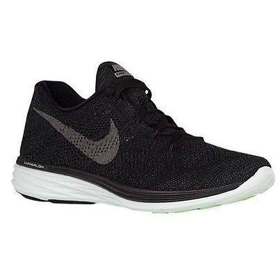 Wholesale Price - New Nike Men's Flyknit Lunar3 LB Training Shoe Black/Anthrct/Green 826837-003 **
