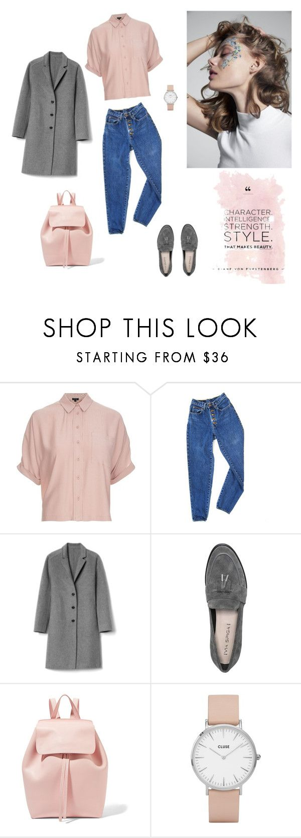 """05/03"" by dorey on Polyvore featuring Topshop, PèPè, Gap, Via Spiga, Mansur Gavriel and CLUSE"