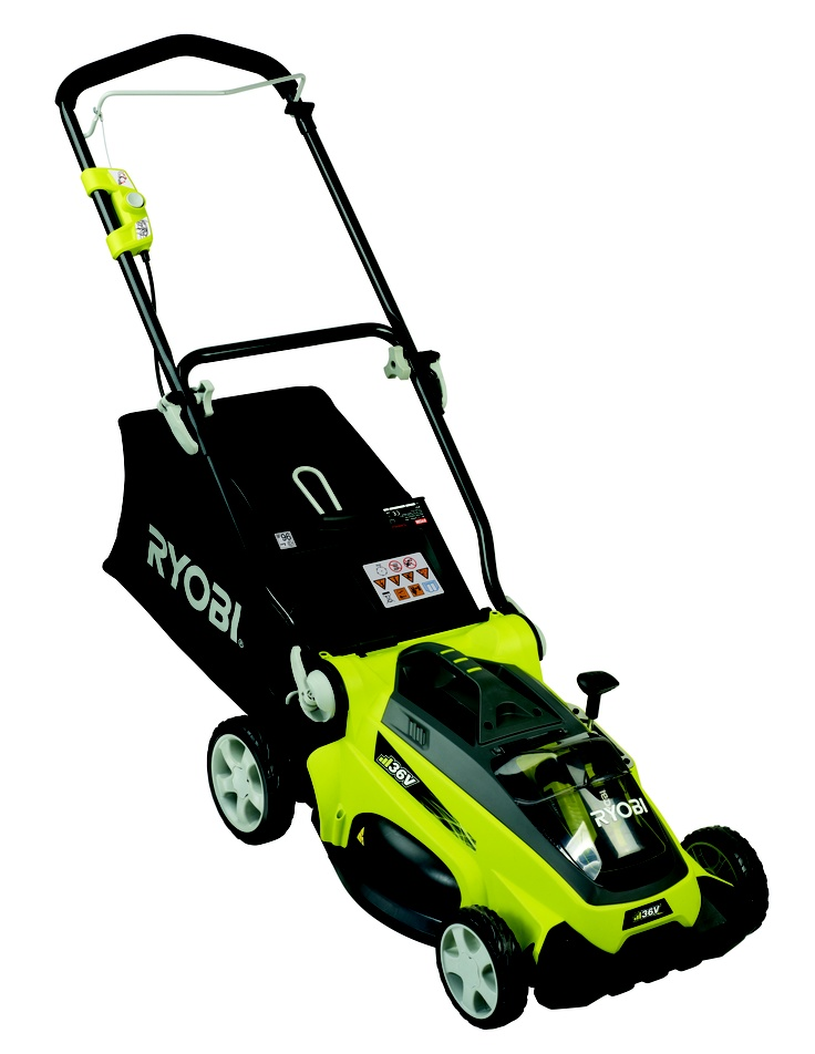 lawn mower cordless ryobi 36v li ion unit only rlm36b bunnings warehouse my wishlist. Black Bedroom Furniture Sets. Home Design Ideas