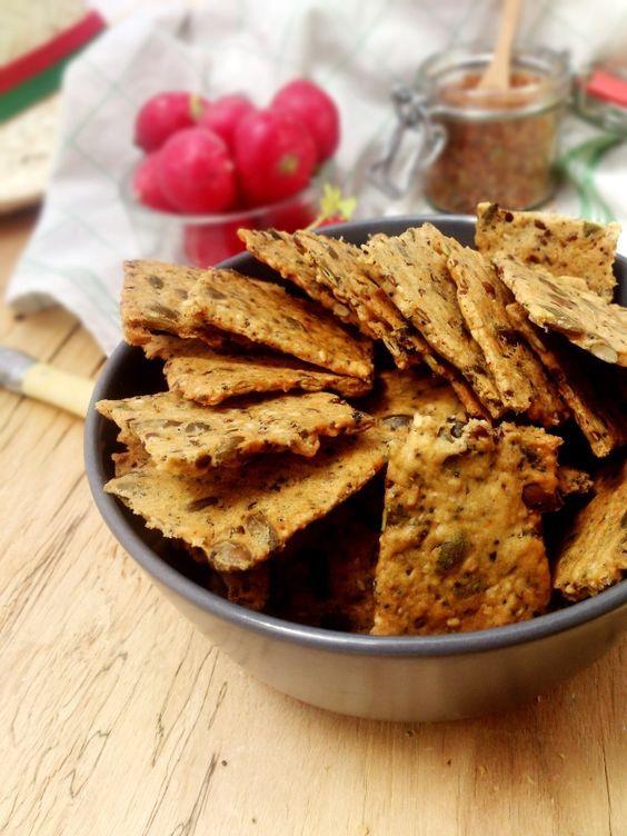 Crackers extra-croustillants et extra-sains aux graines (graines de lin, graines…