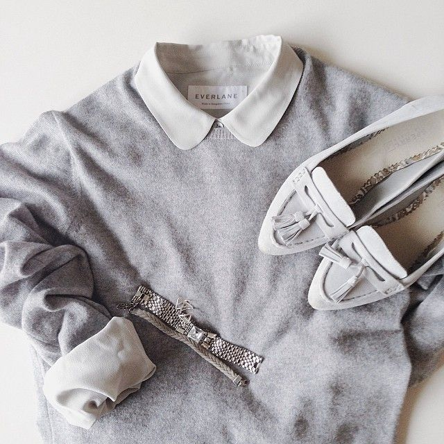 pale greys and soft white