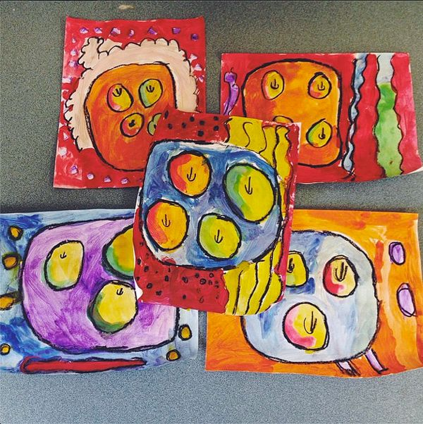 Teach and Shoot: One Day Elementary Art Lesson | First Grade Still Life Painting, Cezanne