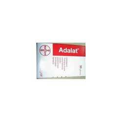 ADALAT(Nifedipine) is a dihydropyridine calcium channel blocker. Its main uses are in angina pectoris (especially Prinzmetal's angina) and hypertension, although a large number of other uses have recently been found for this agent, such as Raynaud's phenomenon, premature labor, and painful spasms of the esophagus in cancer and tetanus patients. It is also commonly used for the small subset of pulmonary hypertension patients whose symptoms respond to calcium channel.