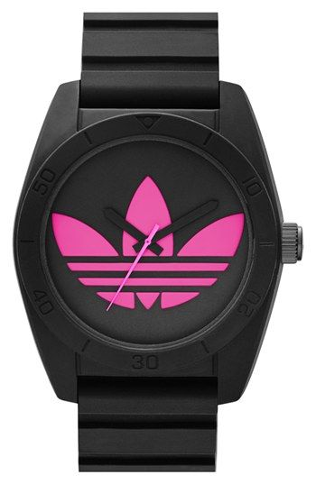 adidas Originals 'Santiago' Silicone Strap Watch, 42mm available at #Nordstrom