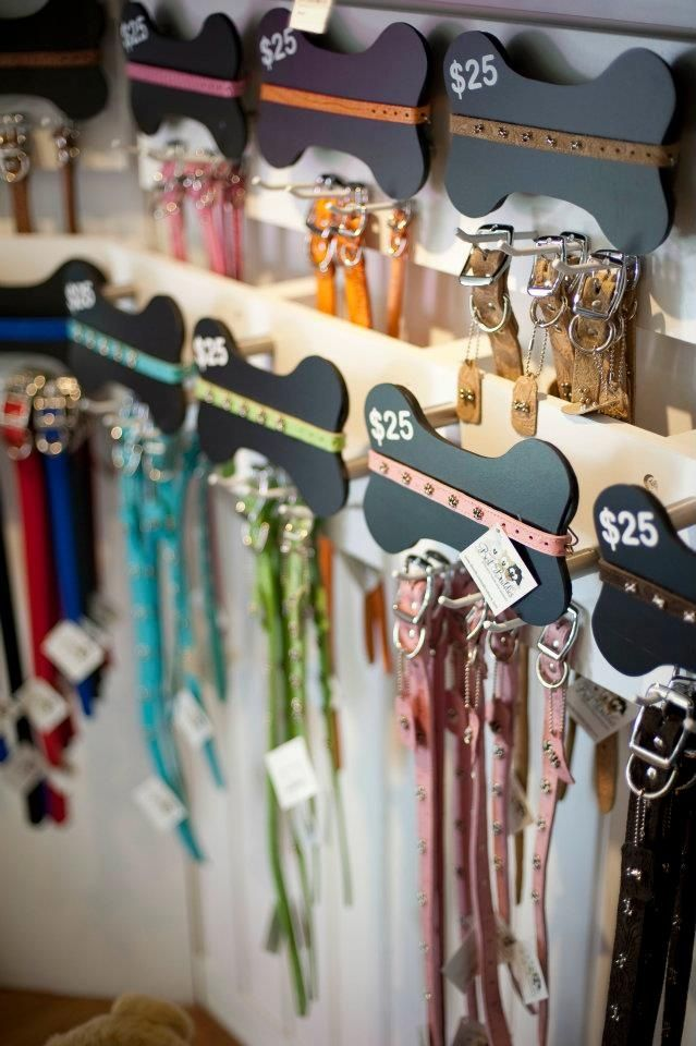 really cute collar and leash display! | Favorite Places & Spaces ...