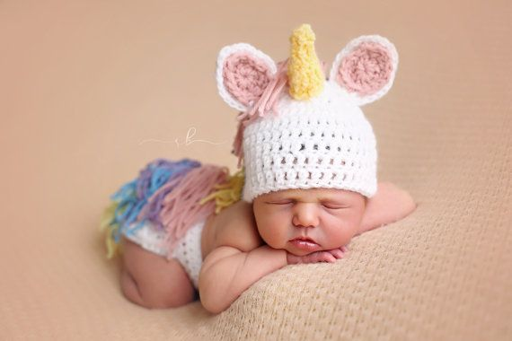 Unicorn Infant Outfit Photo Prop Newborn by LLshabbyden on Etsy