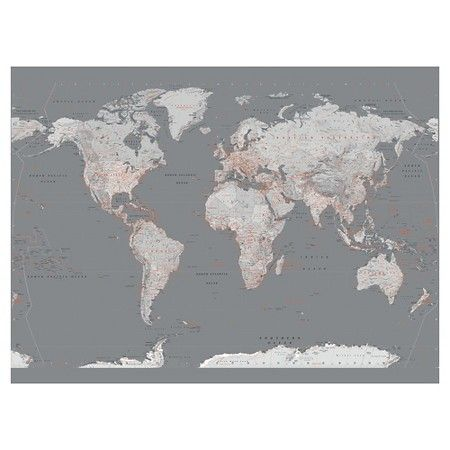 The 25 best grey wallpaper target ideas on pinterest art wallpaper mural contemporary grey world map target gumiabroncs Image collections