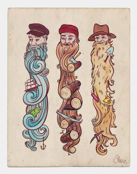 How fun would this be for a tattoo?!  But long hair on girls.