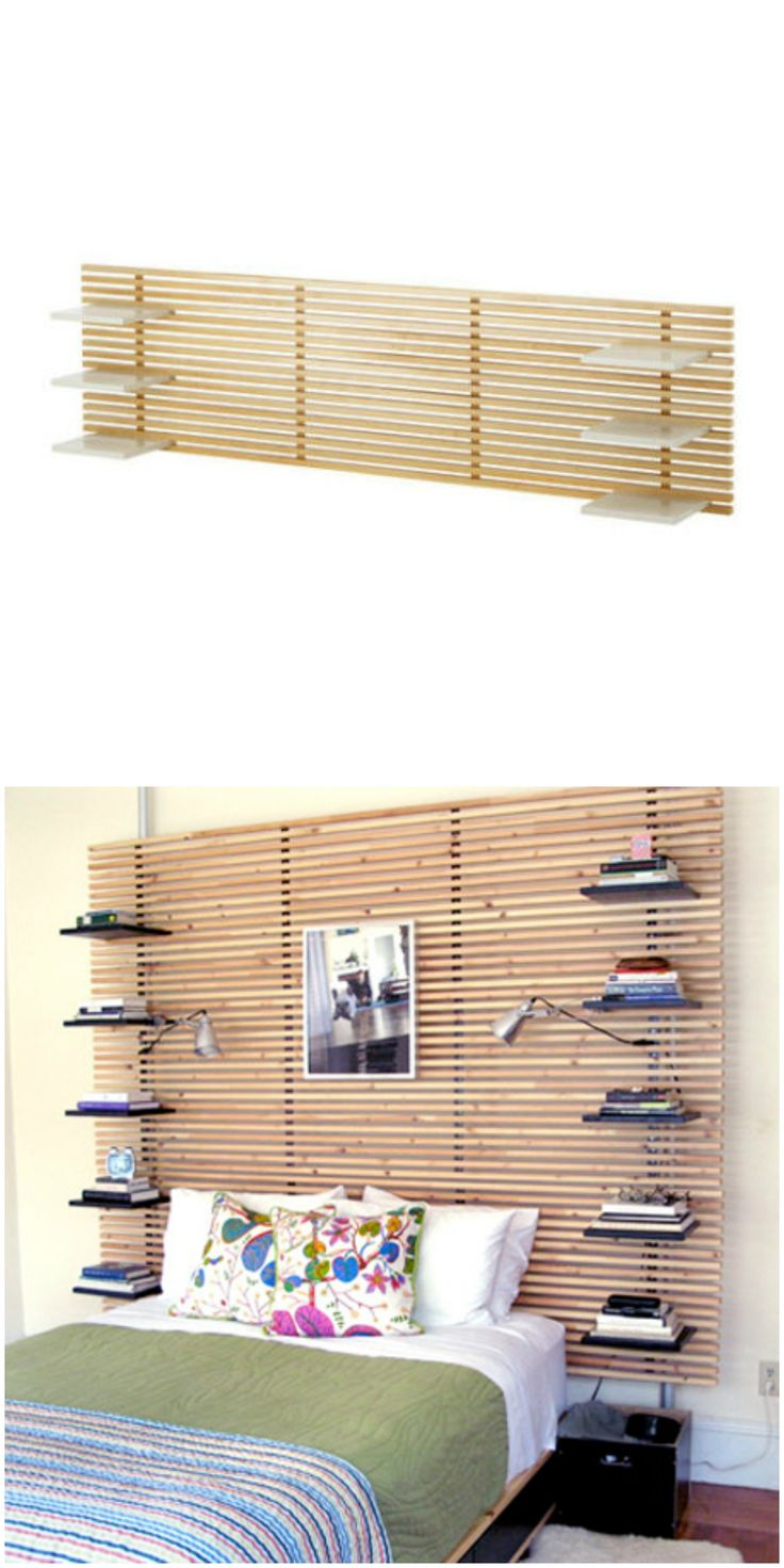 http://www.phomz.com/category/Ikea/ Give your IKEA Mandal headboard shelves with this cool IKEA hack.