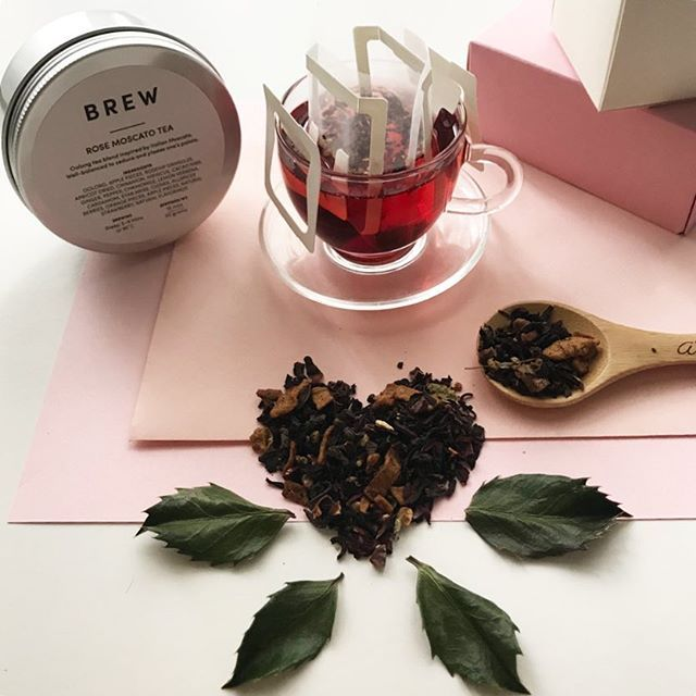 Treat yourself to a cup of Rose Moscato Tea! Hand blended with love and all things beautiful  - Something exciting is happening next week! Stay tuned for more info.      #amuseprojects #brewbyamuseprojects #brewbyamuse #tea #sgtea #teageek #instatea #teastagram #teagram #valentines2018  #teaandseasons #naughtyteas #cups_are_love #cupinframe #timefortea