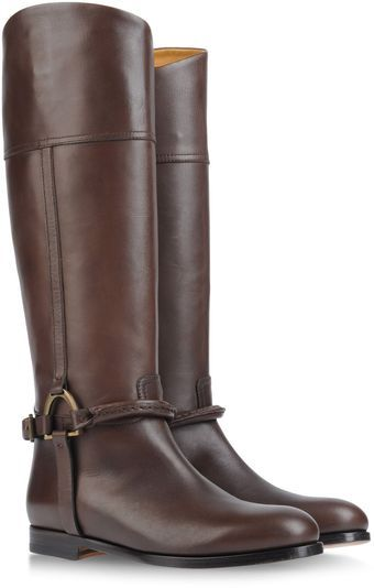 Ralph Lauren Riding Boots - Lyst