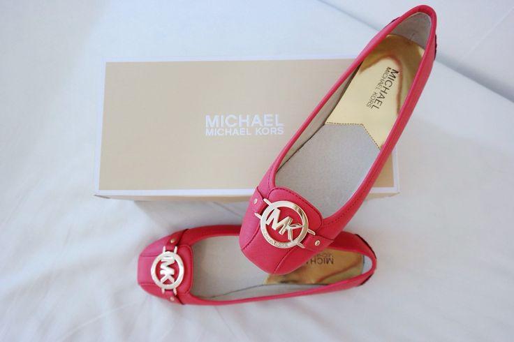 Red MichaelKors ballerina shoes