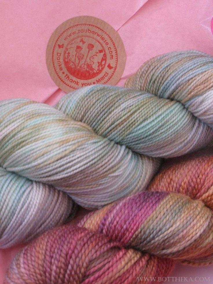 Handpainted Zauberwiese yarns