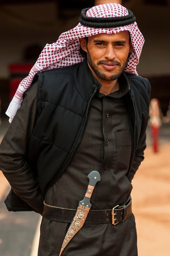 Bedouin Man With A Dagger On His Belt Captain S Desert