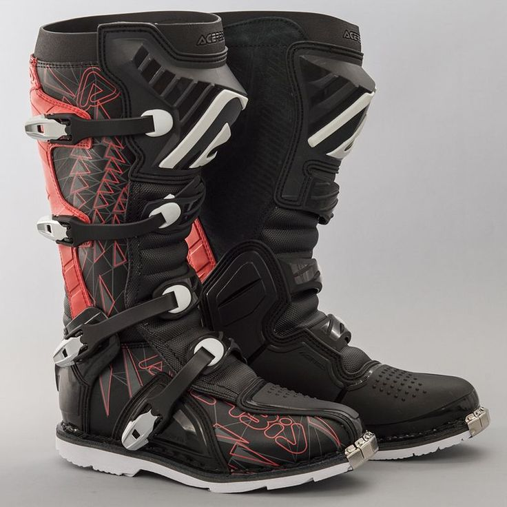 Acerbis Shark Boots Black-Red