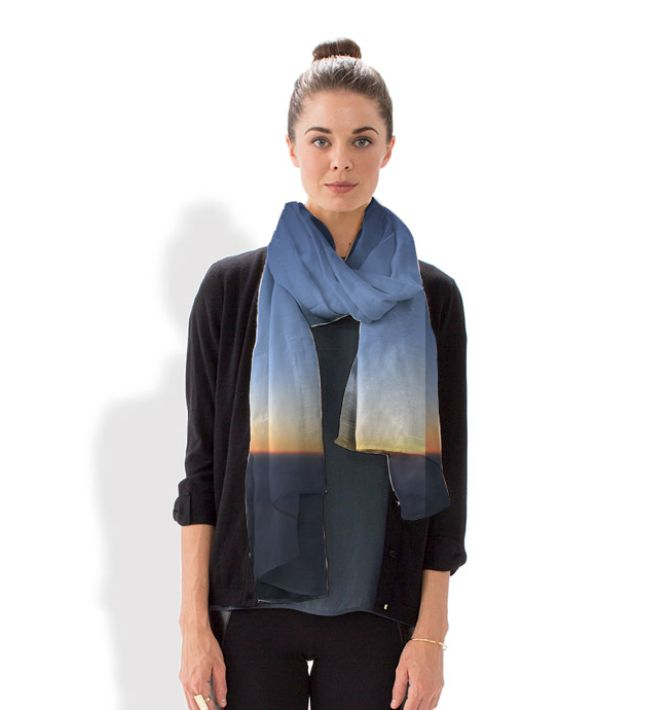 Look for the light scarf -- scarves by VIDA, in collaboration with Karen Walrond's photography.  Best part? Each scarf gives back.  Other best part?  Internationally available!