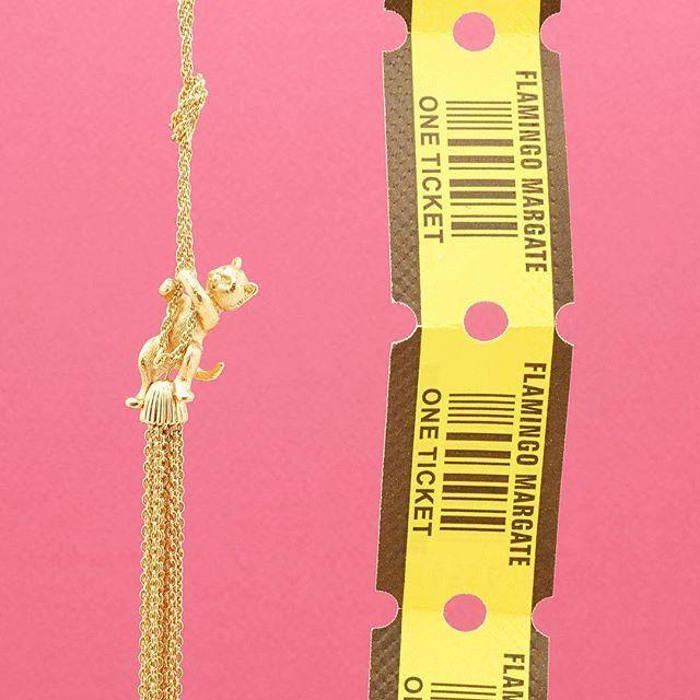 ✨:: The Kitten Tassel Necklace :: ✨ . . . #BillSkinner #kitten #kittensofinstagram #catsofinstagram #margate #dreamland #margatebeach #kittens #fashionphotography #stilllifephotography #style #design #craft #retro #ticketstub