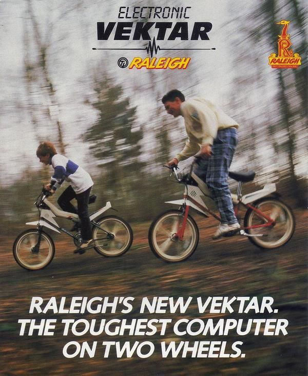 "Historical Pictures on Twitter: ""Raleigh Vektar . Equipped with a radio, sound generator and speedometer.. 1980."