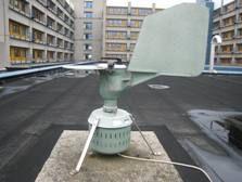 pollensampler op dak LUMC