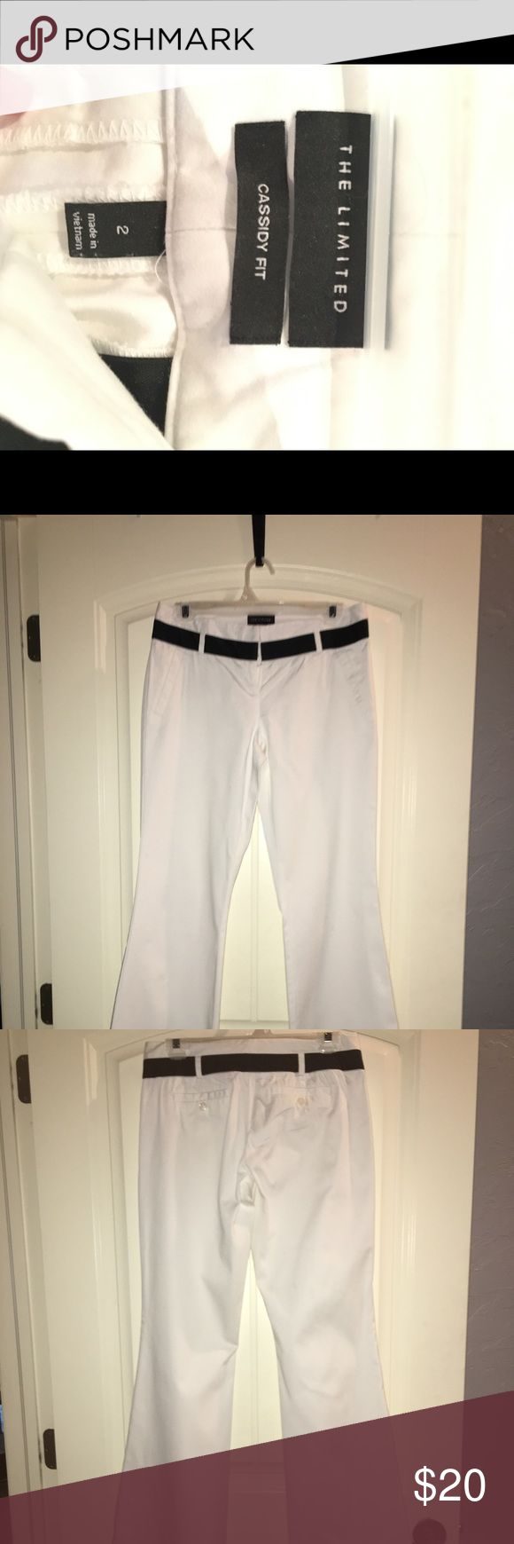 Express Pants Size 2 White Express Pants.  2 Very small stain near the hem of one of thepant legs. May come out with washing or dry cleaning. Express Pants Straight Leg