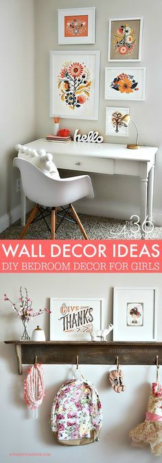wall art ideas for teen girls bedrooms that are fun creative and adventuress - Google Search