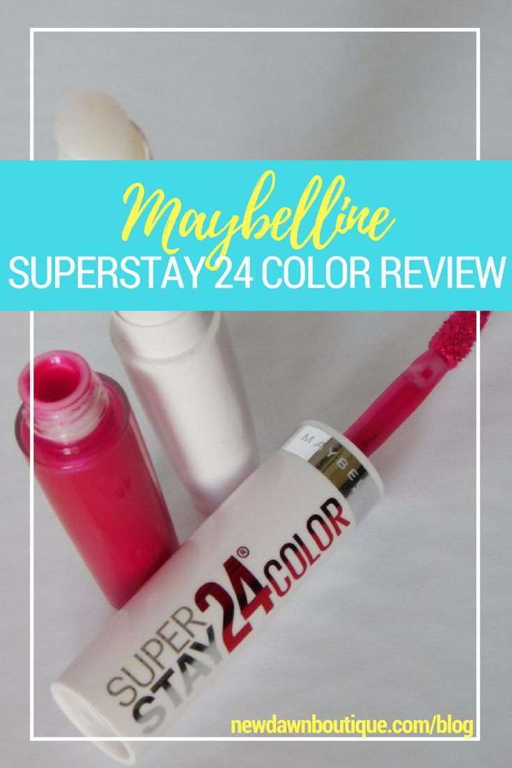 Maybelline superstay 24 lip color review