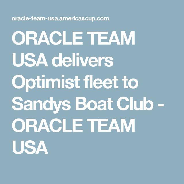ORACLE TEAM USA delivers Optimist fleet to Sandys Boat Club - ORACLE TEAM USA