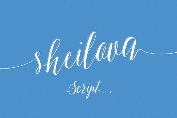 Sheilova Script (60% off) by vero. on Creative Market