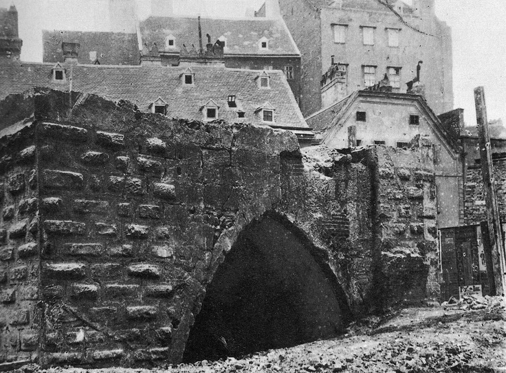 "The ""Werder gate"" built in the 14th century as part of Vienna's city walls. This pic was made around 1860 during the slighting of the city walls."