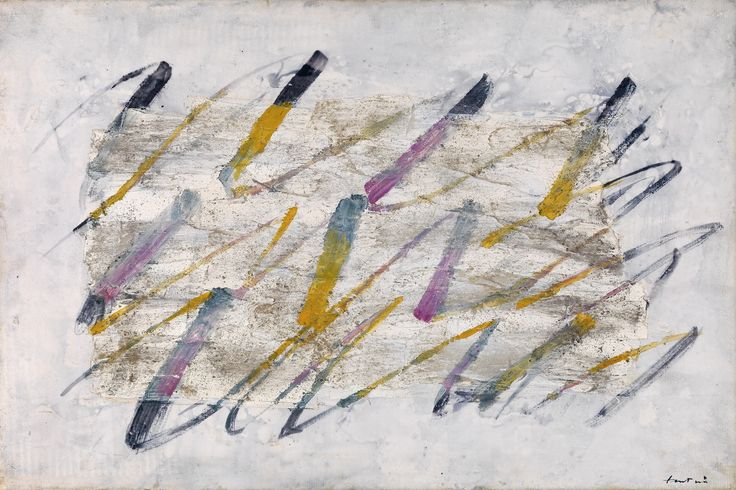 jean fautrier | Jean Fautrier, Lignes colorées, 54 x 81 cm, realized price € ...