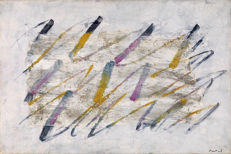 jean fautrier | Jean Fautrier, Lignes colorées, 54 x 81 cm, realized price € ...