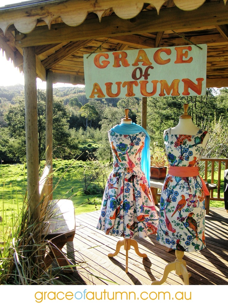 The first of many, this is where it started. Grace of Autumn vintage dresses in new fabrics