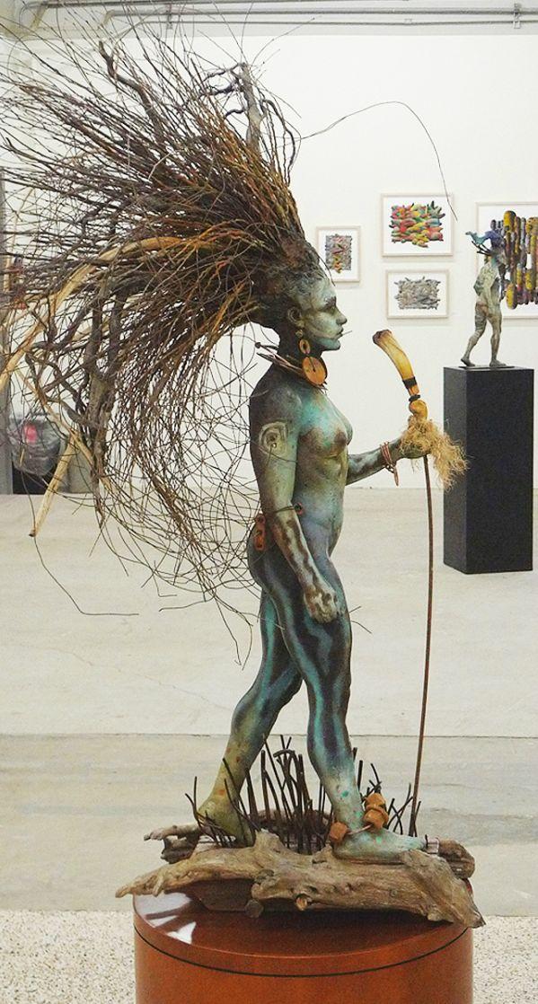 Aquesta escultura la trobo molt creativa  per la forma dels seus cabells