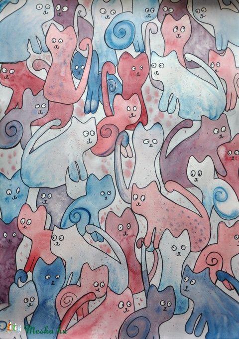 Sokmacs (akvarell), Dekoráció, Baba-mama-gyerek, Kép, Gyerekszoba, Festészet, Meska