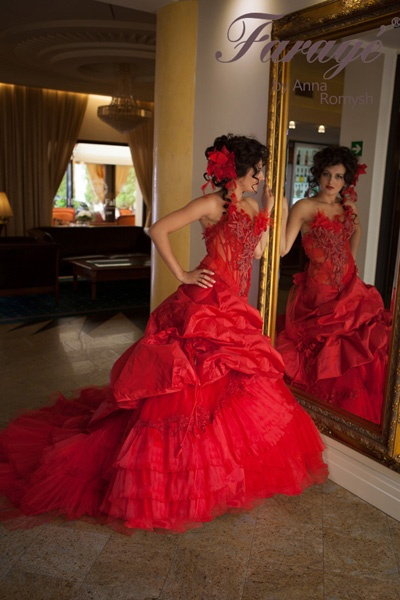 Weddingdress red
