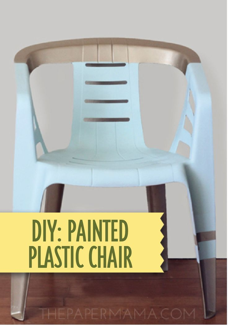 Give your ordinary plastic chairs a makeover  with this DIY tutorial!