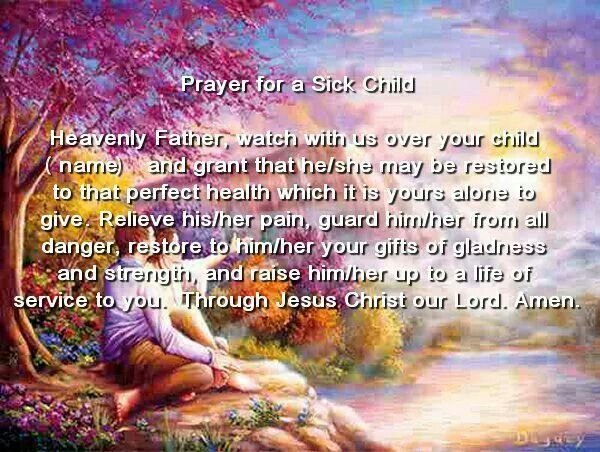 Prayer for a sick child September is Childhood Cancer Awareness Month. Please pray for these young cancer fighters!