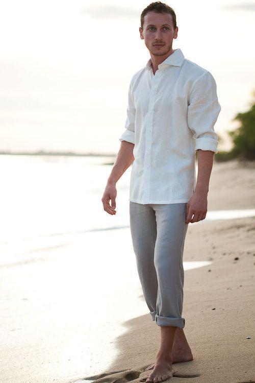 Linen Amalfi Shirt (LS) - Men's Linen Shirts, Long Sleeve - Island Importer