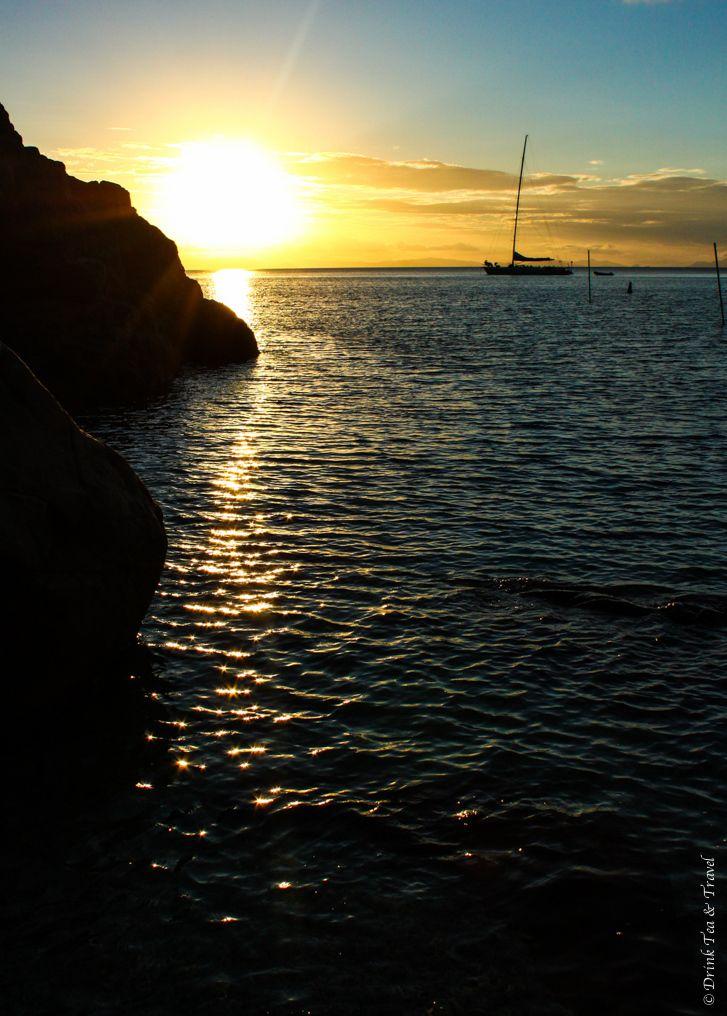 Beautiful sunset in the Whitsundays