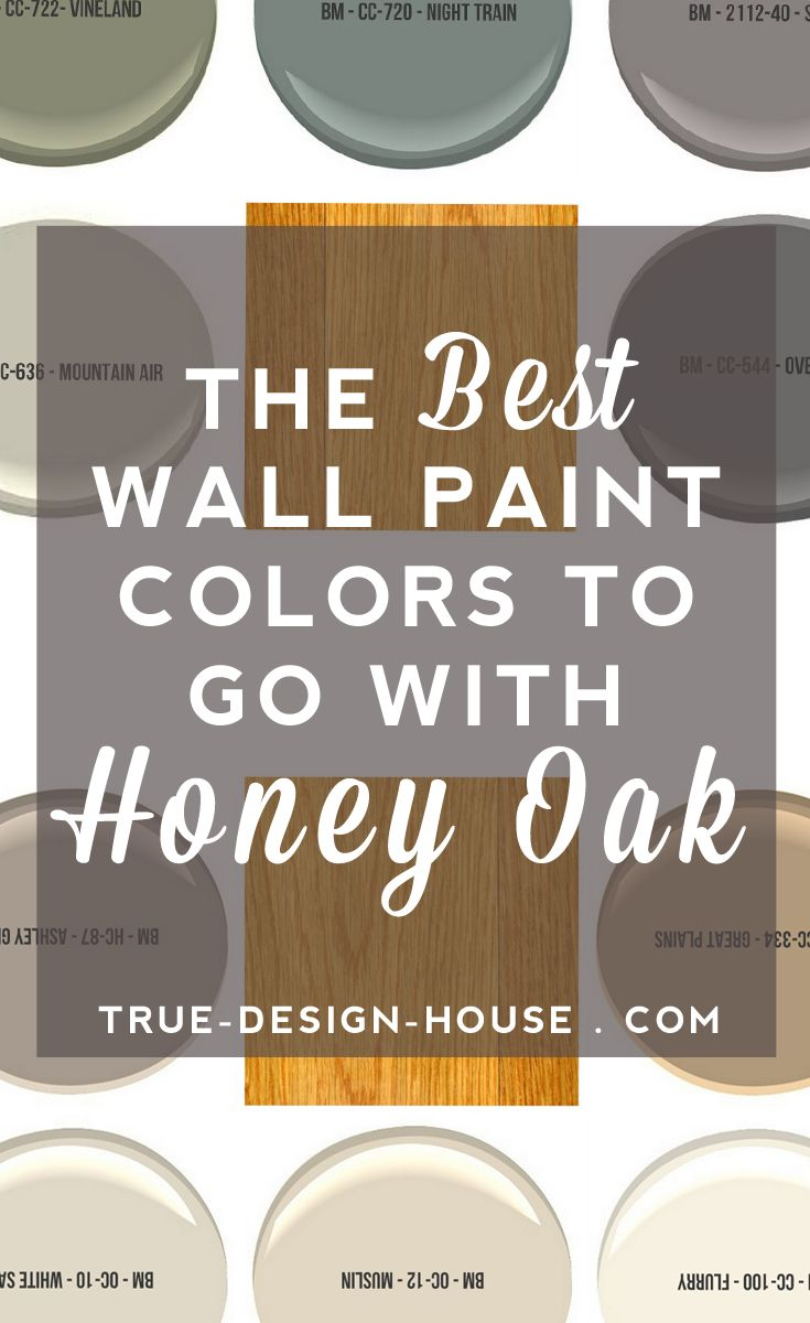 Painting golden oak cabinets - The Best Wall Paint Colors To Go With Honey Oak