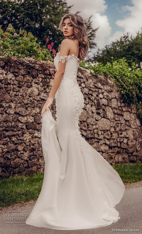 stephanie allin 2019 Braut aus der Schulter gerade über den Hals schwer versch…