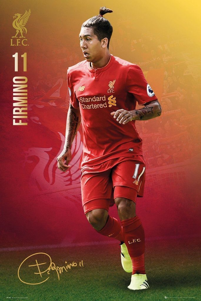 Roberto Firmino Liverpool F.C. FC Football Club Poster Print Wall Art Large Maxi