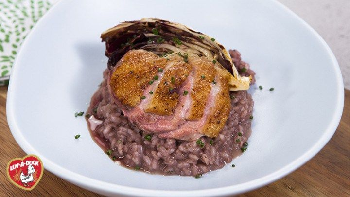 Red Wine Risotto with Duck