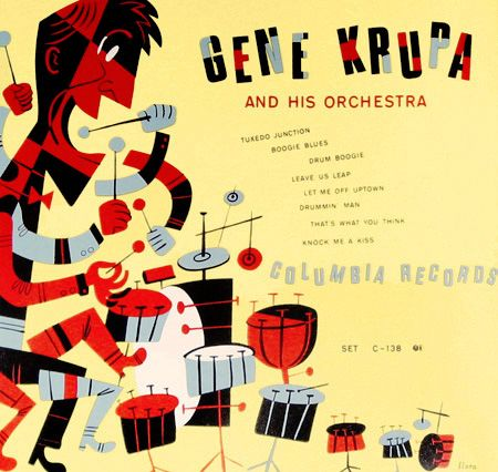 vintage cover: Album Covers, Jimflora, Gene Krupa, Art Prints, Jim Flora, Columbia Records, Records Covers, Covers Art, Album Art