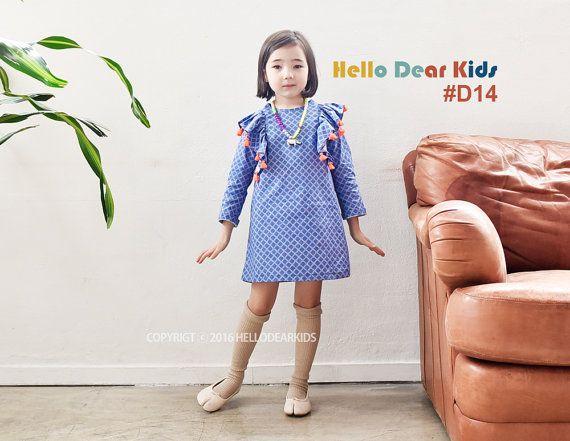 kids sewing pattern pdf/ girl's frill shoulder от hellodearkids
