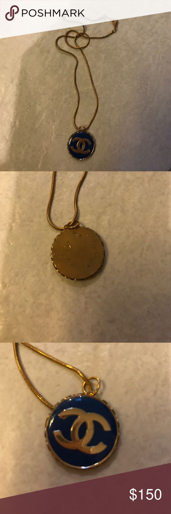 CHANEL necklace Vintage necklace in almost perfect condition. Chain is not authentic which is why the price is so low. This was an authentic CHANEL button handmade into a necklace. CHANEL Jewelry Necklaces