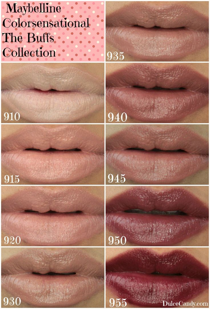 NEW Maybelline Color Sensational The Buffs Collection (swatches) from Dulce Candy