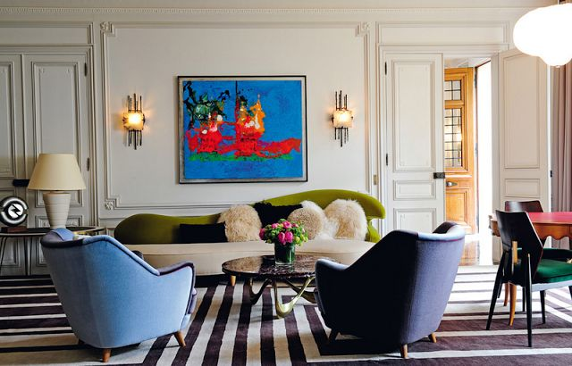 A heavy dose of whimsy makes this living room incredible for Colorful whimsical living room